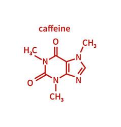 caffeine milecule in line vector image