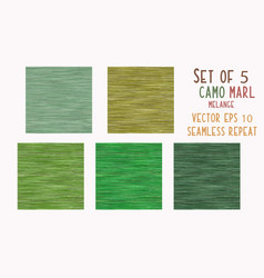 Camo green marl heather texture background faux vector