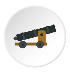 Cannon icon circle vector
