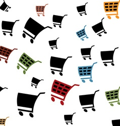 Cart pattern vector image