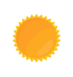 cartoon bright sun in flat vector image