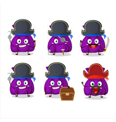 Cartoon character purple candy sack with vector