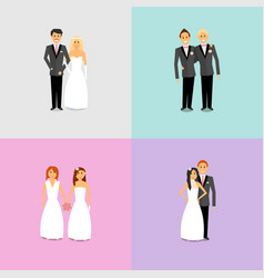 couples with different sexual orientations vector image