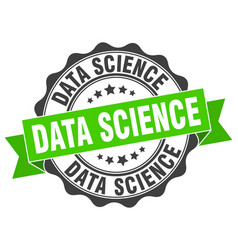 Data science stamp sign seal vector