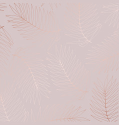 Delicate pattern with tropical branches vector