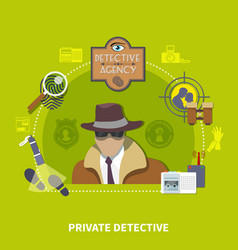 detective flat concept vector image