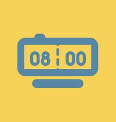 Digital clock table watch vector