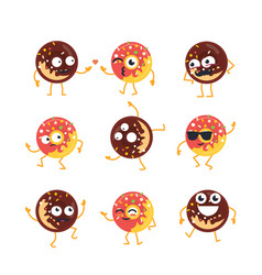 Donuts - set of mascot vector