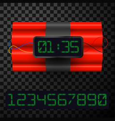 Dynamite with timer realistic 3d vector