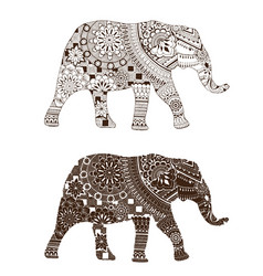 elephant with oriental patterns vector image