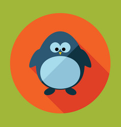 Flat modern design with shadow penguin vector