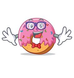 geek donut character cartoon style vector image