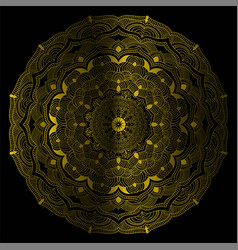 gold color mandala vintage decorative vector image