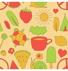 hand drawn doodles pattern vector image