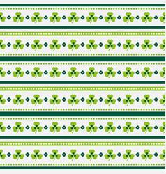 Happy st patricks day seamless striped pattern vector