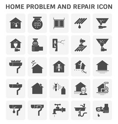 home problem icon vector image