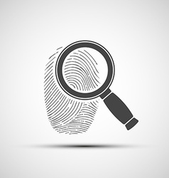 Human fingerprint Stock vector