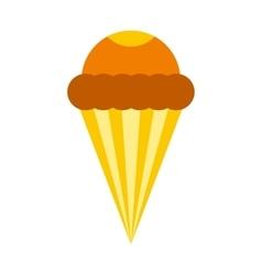 Ice cream cone icon flat style vector