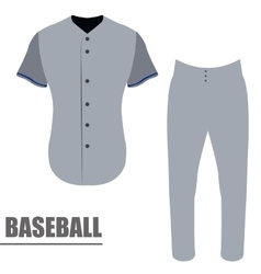 Isolated baseball uniform vector