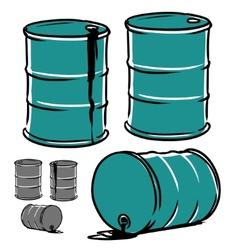 Metal barrel vector image