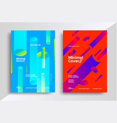 minimal covers design with halftone gradient vector image