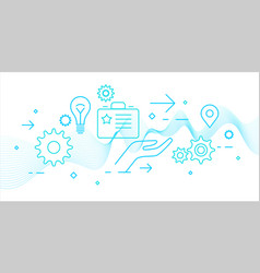 modern business analytics vector image