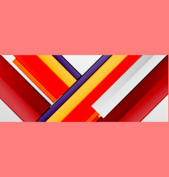 multicolored lines background design template vector image