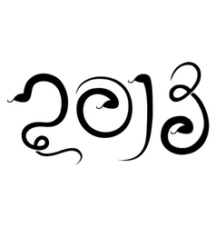 New 2013 year of snake vector image