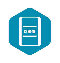 one bag of cement icon simple style vector image