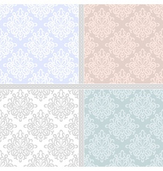Pastel seamless ethnic pattern set vector image