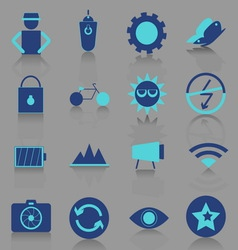 Photography icons with reflect shadow vector image