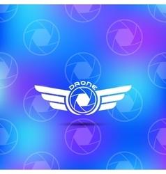 Quadrocopter business icon vector
