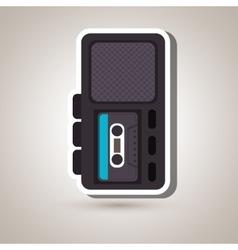 radio recording design vector image