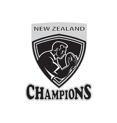 rugby player new zealand champions vector image