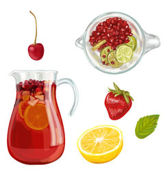 Sangria Hand drawn vector image