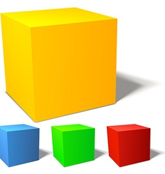 Set of brignt colored cubes vector