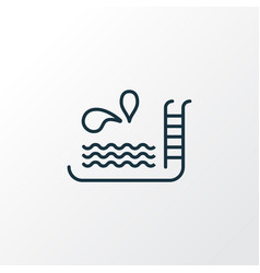 swimming pool icon line symbol premium quality vector image