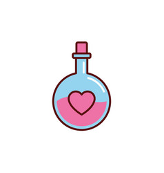 Tube tests potion hearts romantic passion love vector