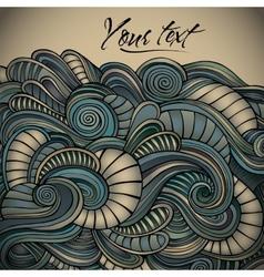 Vintage decorative waves background vector