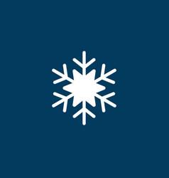 White snowflake icon snow pictogram winter vector