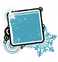 Winter concept frame vector