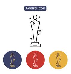 Academy awards icon vector