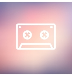 Cassette tape thin line icon vector image vector image