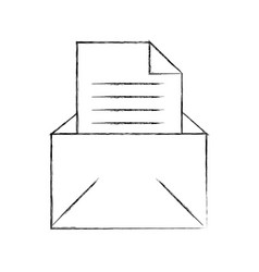email message letter envelope open icon vector image vector image