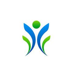 leader people winner sport logo vector image