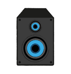 music speaker with bass vector image vector image