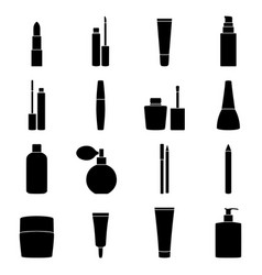 set of cosmetics icons vector image vector image