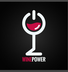 wine glass power concept design background vector image