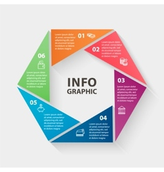 circle infographics Template for diagram vector image vector image