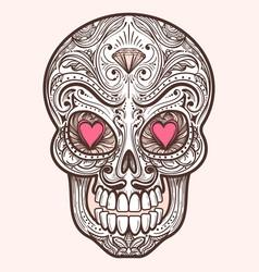 cute mexican sugar skull vector image vector image